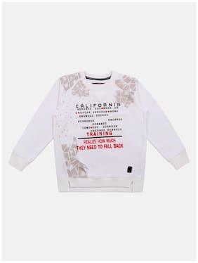 Li'l Tomatoes Boy Knitted Printed Sweatshirt - White