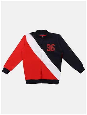 Li'l Tomatoes Boy Knitted Colorblocked Winter jacket - Multi