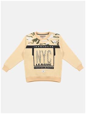 Li'l Tomatoes Boy Knitted Printed Sweatshirt - Yellow