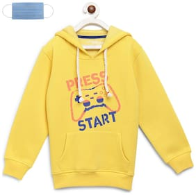 Li'l Tomatoes Boy Cotton Printed Sweatshirt - Yellow