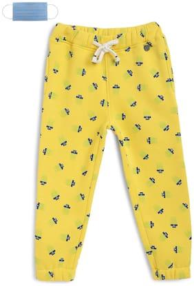 Li'l Tomatoes Boy Cotton Track pants - Yellow