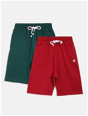 Li'l Tomatoes Boy Solid Shorts & 3/4ths - Red