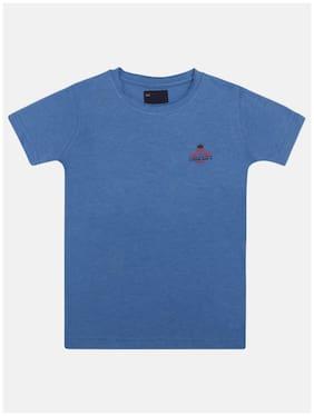 Li'l Tomatoes Boy Cotton Printed T-shirt - Blue