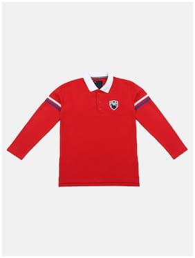 Li'l Tomatoes Boy Cotton Solid T-shirt - Red