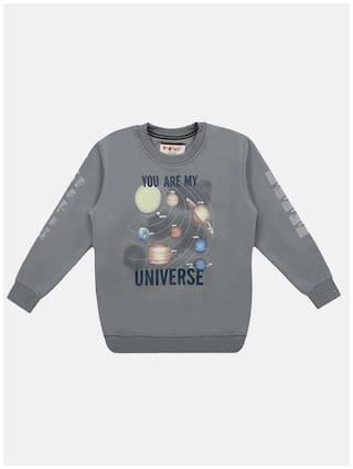 Li'l Tomatoes Baby boy Knitted Printed Sweatshirt - Grey