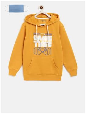 Li'l Tomatoes Boy Cotton Printed Sweatshirt - Yellow