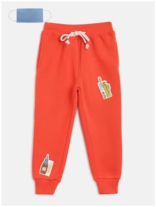 Li'l Tomatoes Baby boy Cotton Printed Pyjama - Orange