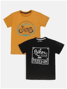 Li'l Tomatoes Cotton Printed T shirt for Baby Boy - Yellow