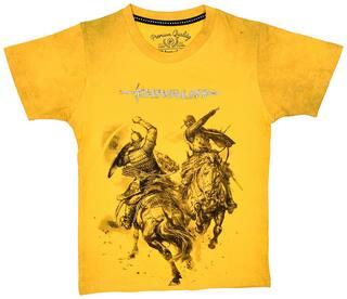 Li'l Tomatoes Boy Cotton Printed T-shirt - Yellow