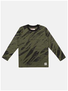 Li'l Tomatoes Boy Cotton Printed T-shirt - Green