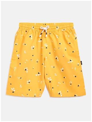 Li'l Tomatoes Boy Printed Shorts & 3/4ths - Yellow