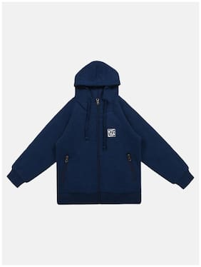 Li'l Tomatoes Baby boy Knitted Printed Winter jacket - Blue