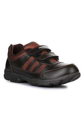 Liberty Force 10 Brown School Shoes for boys