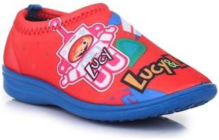 Liberty Red Casual Shoes For Girls