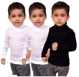 LIENZ Boy Wool Solid Sweater - Multi