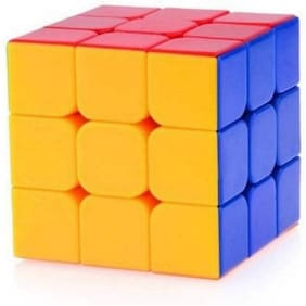 # Like Star High Speed Stickerless 3x3 Magic Rubik Cube Puzzle Game Toy  Multicolor (1 Pieces)