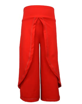 Lil Orchids Girl Polyester Trousers - Red