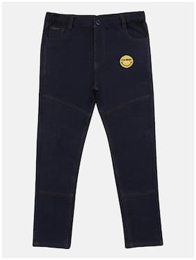 Li'l Tomatoes Baby boy Cotton Solid Trousers - Blue