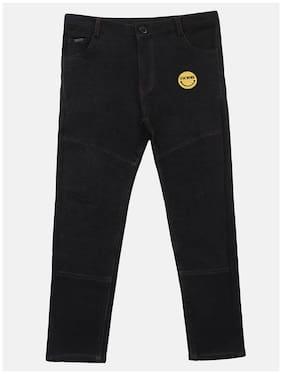 Li'l Tomatoes Baby boy Cotton Solid Trousers - Black