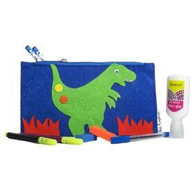 Blue Dinosaur Kids Pencil Pouch ( Return Gift / Birthday Gift/ Stationary organiser/wallet / coin pouch)