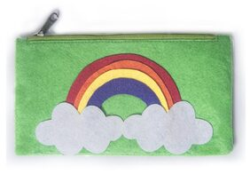 Rainbow Green Kids Pencil Pouch ( Return Gift / Birthday Gift/ Stationary organiser/wallet / coin pouch)
