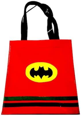 Superman Red Kids Big Tote ( Return Gift / Birthday Gift / Travel Kit/ accessories kit/Organizer )