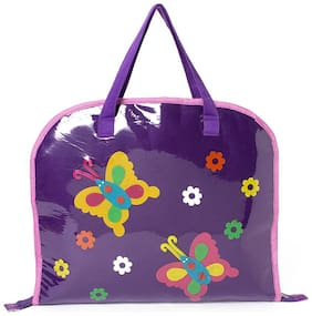 Purple butterfly Kids Drawing bags (Return Gift / Birthday Gift / Travel Kit / Lunch bag / Kids activity bag/Shopping bag /Travel bag /Art bag)
