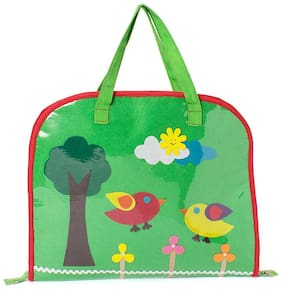 Green bird Kids Drawing bags (Return Gift / Birthday Gift / Travel Kit / Lunch bag / Kids activity bag/Shopping bag /Travel bag /Art bag)