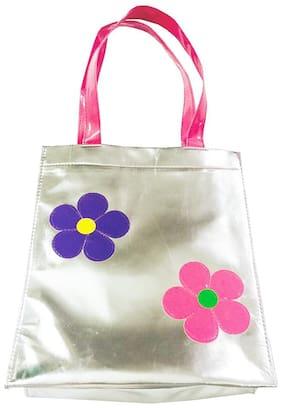 Flower Silver Kids Big Tote ( Return Gift / Birthday Gift / Travel Kit/ accessories kit/Organizer )