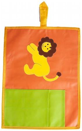 Lion Orange Cutlery pocket Kids table mat