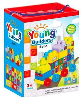 LITTLE CHEEKS Large Size Young Builders Set Learning Toy || Blocks kit)