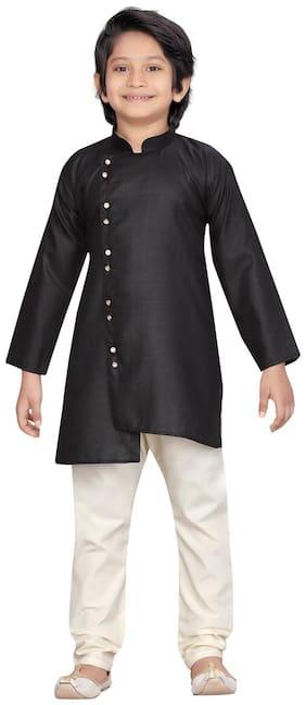 Black;Cream Kurta Pyjama Set