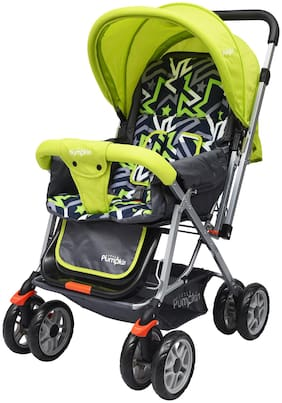 Little Pumpkin - Kiddie Kingdom Baby Stroller and Pram for Baby/Kids (Green Black)