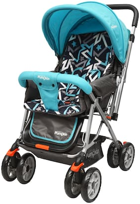 Little Pumpkin Kiddie Kingdom Baby Stroller and Pram for Baby/Kids (Blue Black)