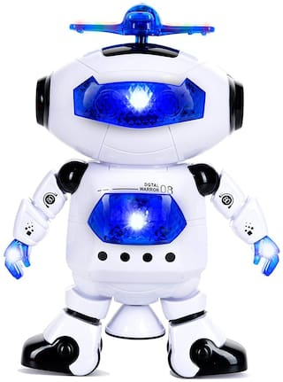 little rock Dancing 360 dgree  roatate Robot With 3D Lights And Music