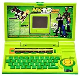 little rock High Quality Educational English Learner Laptop With Mouse For Kids (multicolored)