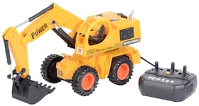 little rock Smart JCB Excavator Truck Shovel Loader Truck Vehicle 360 Degree Rotation Wired Remote Control Toy Game