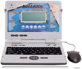 little rock Multicolour Notebook Laptop With Mouse And Charger for kids