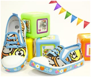LITTLE SOLES Blue Casual Shoes For Infants