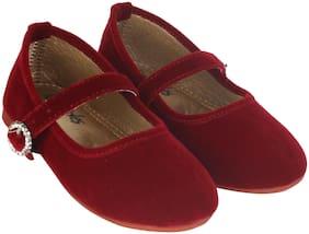 LITTLE SOLES Red Ballerinas For Infants