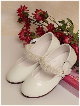 LITTLE SOLES White Ballerinas For Infants