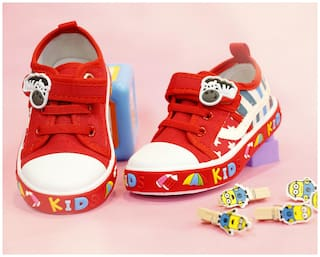 LITTLE SOLES Red Casual Shoes For Infants