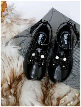LITTLE SOLES Black Ballerinas For Infants