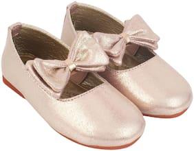 LITTLE SOLES Pink Ballerinas For Girls