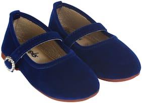 LITTLE SOLES Blue Ballerinas For Infants