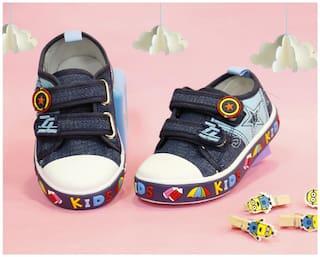 LITTLE SOLES Blue Casual Shoes For Infants