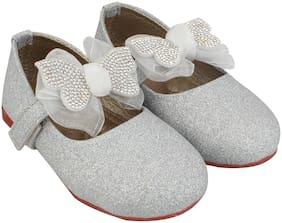LITTLE SOLES Silver Ballerinas For Infants