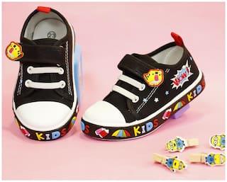LITTLE SOLES Black Casual Shoes For Infants