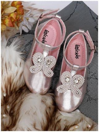 LITTLE SOLES Pink Ballerinas For Infants