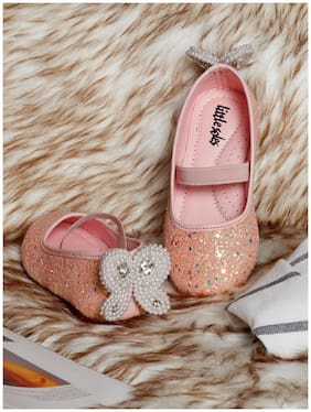 LITTLE SOLES Pink Ballerinas For Girls